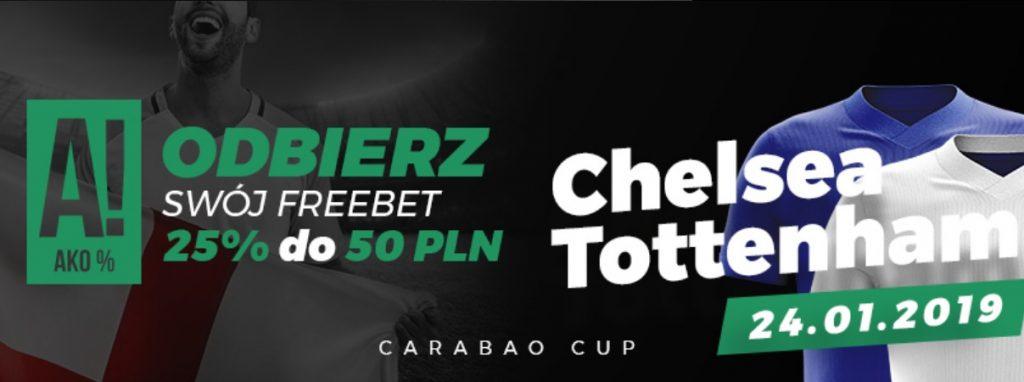 Bonus na mecz Chelsea - Tottenham w Totolotku!