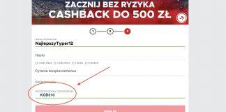 KOD510 w BetClic Polska. Cashback 510 PLN na start!